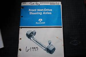 Rockwell Front Non Drive Steering Axle Maintenance Manual