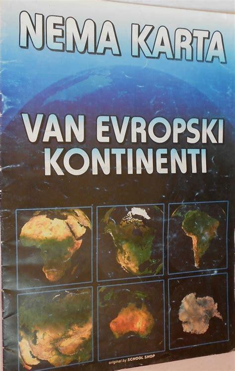 Nema karta vanevropski kontinenti | Knjižara Pismo