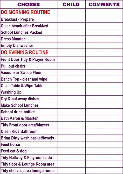create   chore chart   charts