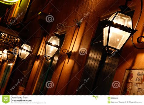 new orleans quarter gas lights editorial stock