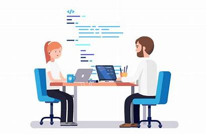 Working Employees Remotely Remote Services Team Company