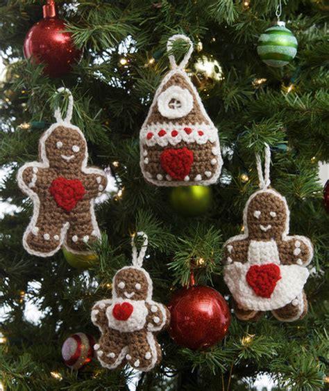crochet patterns galore gingerbread tree ornaments