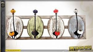 Porte Photo Mural Metal : porte manteaux mural bois et m tal style r tro 4 pat res ~ Teatrodelosmanantiales.com Idées de Décoration