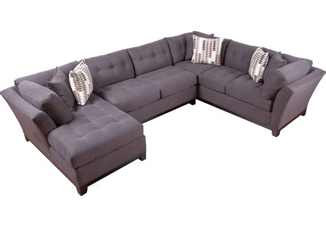 cindy crawford home metropolis slate  pc sectional