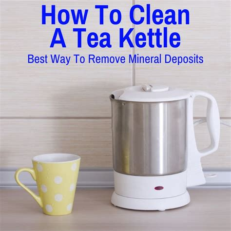 clean  tea kettle    remove limescale     tea kettle kettle