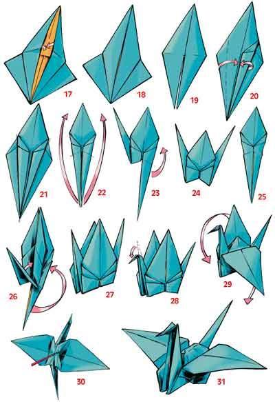 origami kranich anleitung origami mosapedia