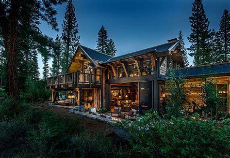 stunning mountain homes floor plans photos stunning cabin retreat brings rustic texan charm to lake tahoe