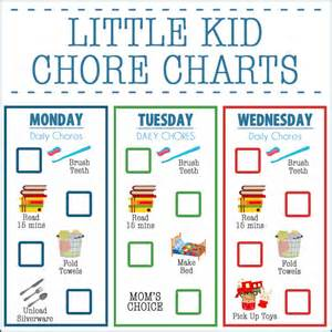 kid chore charts ages 2 4 the big moon