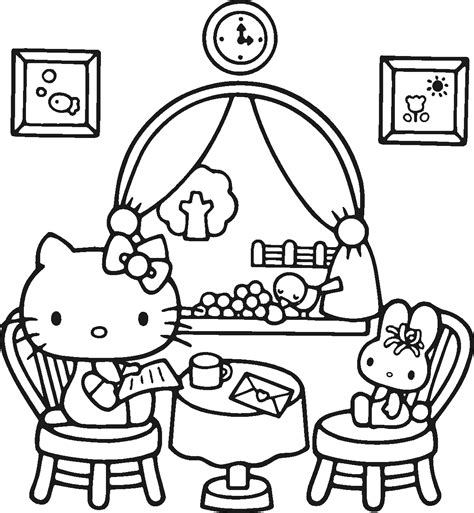 kitty coloring pages lets coloring