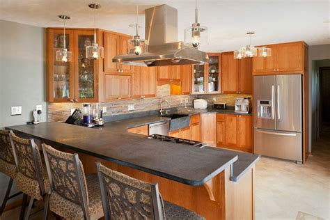 shaped kitchen soapstone countertop home decorating