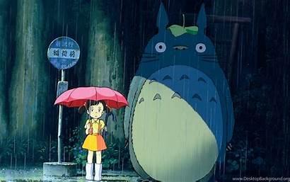 Desktop Totoro Computer Neighbor Backgrounds Wallpapers Background