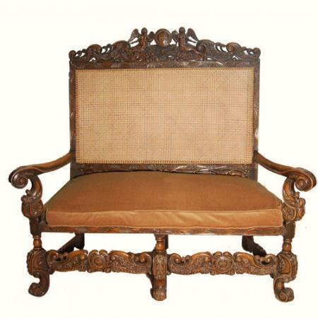 High Backed Settee by Canework High Backed Settee For Sale Antiques