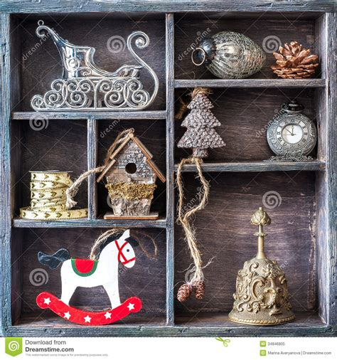 christmas retro collage  toys  decorations royalty