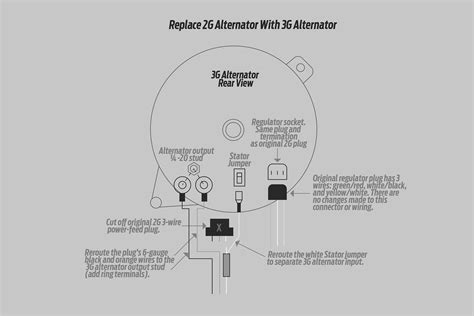 1986 Ford Alternator Wiring by How To Install A High Output Ford 3g Alternator Into