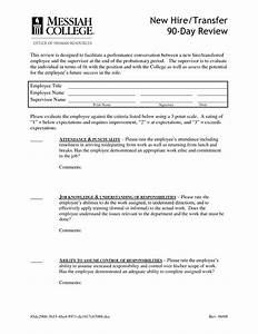 best photos of 90 day probationary form 90 day employee With employment probation letter template