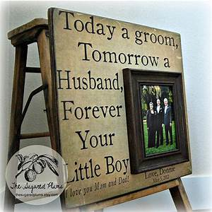 Parents wedding gift personalized picture frame by for Parent gifts for wedding