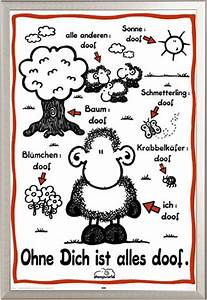 Alles Ist Doof : sheepworld ohne dich ist alles doof poster druck gr e 61x91 5 cm ebay ~ Eleganceandgraceweddings.com Haus und Dekorationen