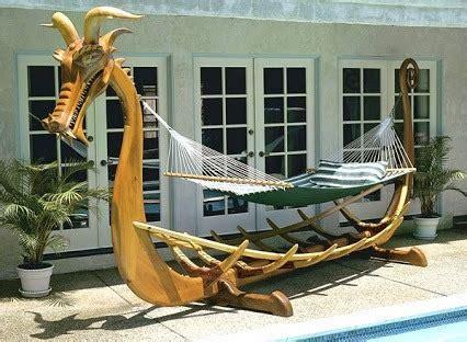 Viking Longboat Bed by Viking Longboat Hammock Stand