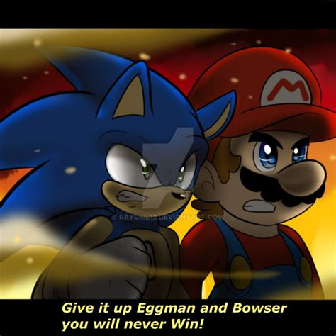 Mario And Sonic Battle By Raygirl12 On Deviantart