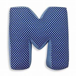 one grace place simplicity letter quotmquot pillow in blue With letter m pillow