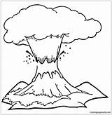 Volcano Eruption Pages Coloring sketch template