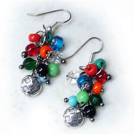 Free Pattern  Beaded Cluster Earring  Jewelry Making