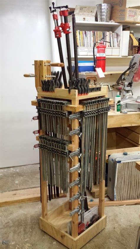 rolling clamp cart rangement outils piece de stockage