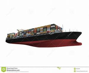 Container Ship Isolated Front View Stock Photo - Image ...