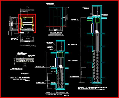 Garbage Garage Energia by Details Elevator Dwg Detail For Autocad Designs Cad