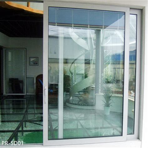 double glass thermally broken aluminium sliding door