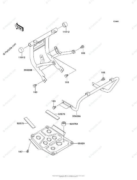 Kawasaki Atv Oem Parts Diagram For Guard