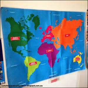World Continent Maps Montessori