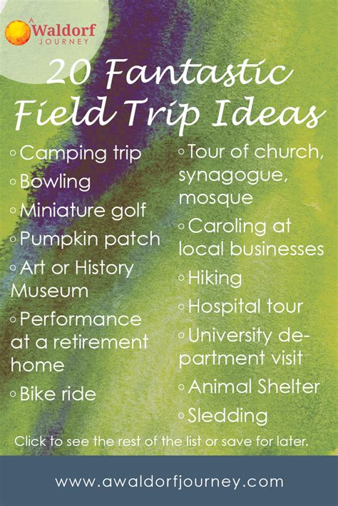 field trip ideas 20 fantastic field trip ideas and why you should take them a waldorf journey