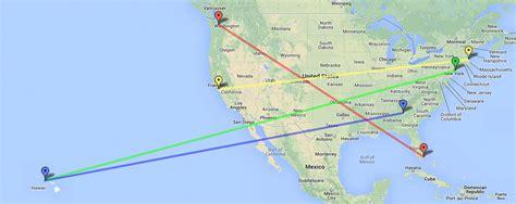 boston  newark flight time listed map