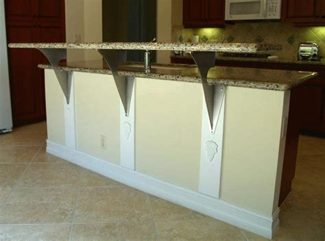 floating granite countertop brackets countertop support brackets from outwater