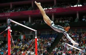 Gabby Douglas competes in uneven bars but real challenge ...
