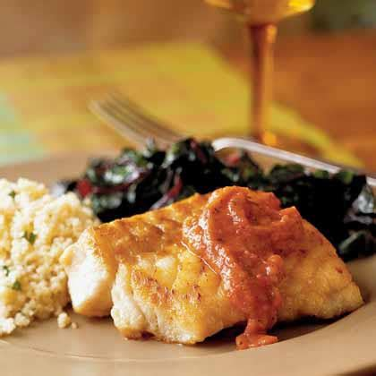 grouper seared pan sauce roasted tomato recipe myrecipes becky luigart stayner
