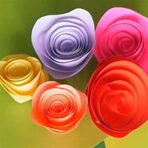 Comment Faire Une Rose En Papier Facilement : tutoriel pour r aliser une rose en papier facilement ~ Nature-et-papiers.com Idées de Décoration