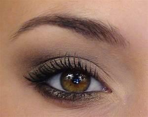 Maquillage Pour Yeux Marron : regard sexy smokey eye l ger maquillage de soir e ~ Carolinahurricanesstore.com Idées de Décoration