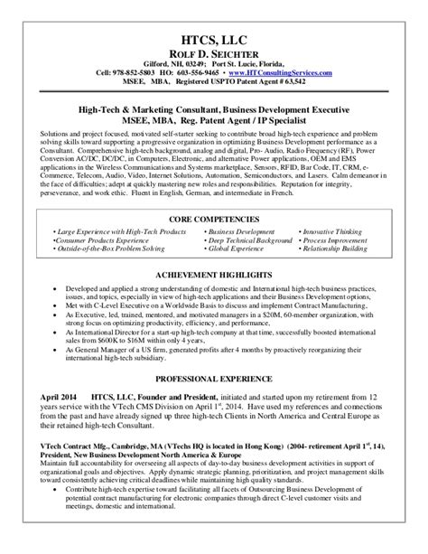 Business Development Consultant Resume by Htcs Llc High Tech Consulting Services Resume Rolf Seichter