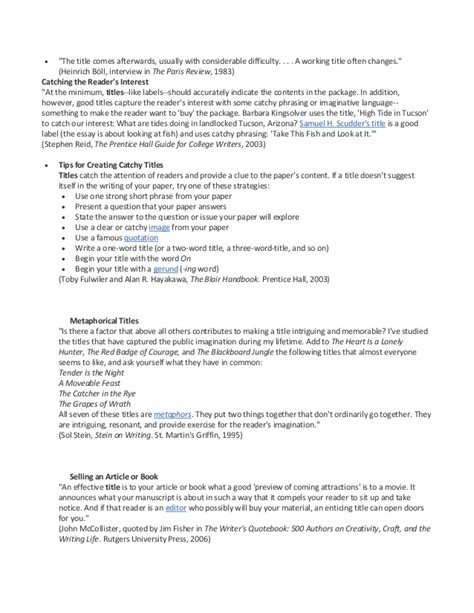 Catchy Titles For Resumes by Catchy Title For Essay Business Analysis And Design Essay