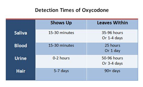 long  oxycodone stay   system home health testing