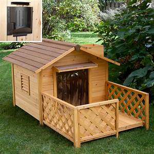 Merry products mansion dog house with heater dog houses for Merry products dog house