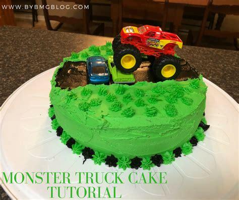 bybmg  layer monster truck birthday cake tutorial