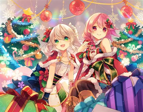 anime gifts for christmas 1980x1560 anime smiling hair gifts wallpapers wallpapermaiden