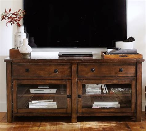 pottery barn tv stand benchwright tv stand large pottery barn