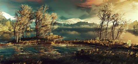 The Witcher 3 Wallpaper 2560x1440 Geralt Stands Around And Ponders His Existence Full Hd Wallpaper And Hintergrund 3840x1800