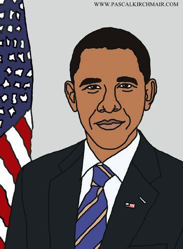 barack obama  pascal kirchmair famous people cartoon