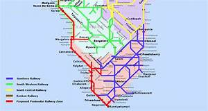 South, India, Railway, Map