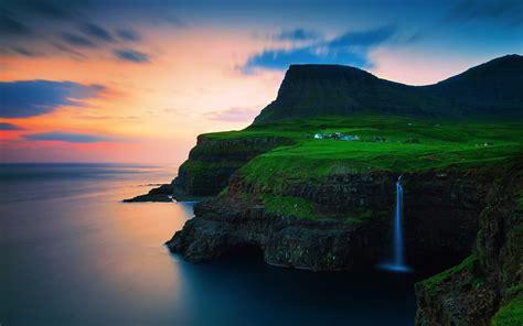 Faroe Islands Vagar Gasadalur Wallpapers - 1920x1200 - 561878